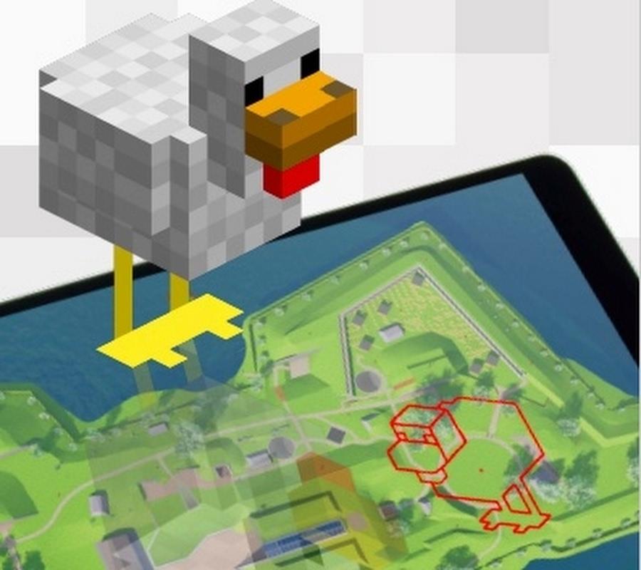 Teken de mooiste Minecraft eend!